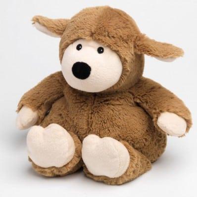 INTELEX - Cozy peluche bouillotte sèche - micro-onde | Mouton camel C2BB - chaussons, chaussures, chaussettes pour bébé