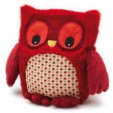 INTELEX - HOOTY Wärmestofftier für mikrowelle | Rot Eule