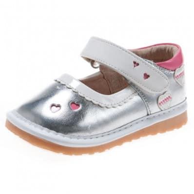 Little Blue Lamb - Chaussures à sifflet | Babies argenté
