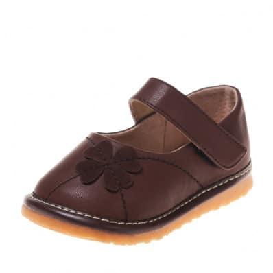 Little Blue Lamb - Chaussures à sifflet   Babies marron papillon