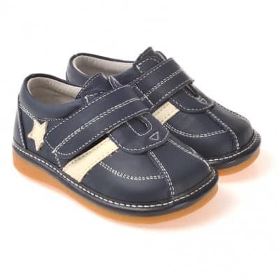 CAROCH - Scarpine bimba primi passi con fischietto | Sneakers blu e bianco stella