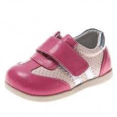 Little Blue Lamb - Zapatos de suela de goma blanda niñas | Zapatillas de deporte plateada rosa