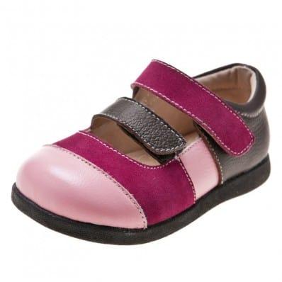 Little Blue Lamb - Zapatos de suela de goma blanda niñas | Babies a rosa y fushia