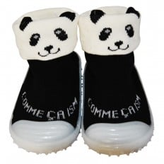 Baby boys girls Socks shoes with grippy rubber | Panda