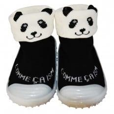 Hausschuhe - Socken Baby Kind geschmeidige Schuhsohle Mädchen Junge | Panda