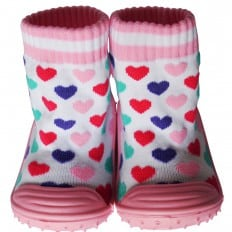 Baby girls Socks shoes with grippy rubber | Hearts
