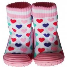 Scarpine calzini antiscivolo bambini - ragazza | Cuori