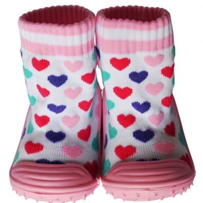 Scarpine calzini antiscivolo bambini - ragazza   Cuori