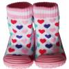 Calcetines con suela antideslizante para niñas | Corazones