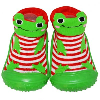 Baby boys girls Socks shoes with grippy rubber | Frog