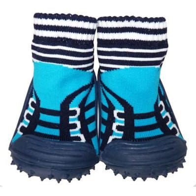 Hausschuhe - Socken Baby Kind geschmeidige Schuhsohle Junge | Türkisblaue turnschuhe