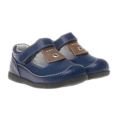 Little Blue Lamb - Chaussures semelle souple | Ouvertes bleu marine