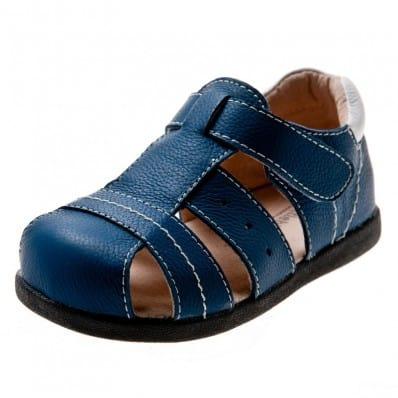 Little Blue Lamb - Chaussures semelle souple | Sandales bleues
