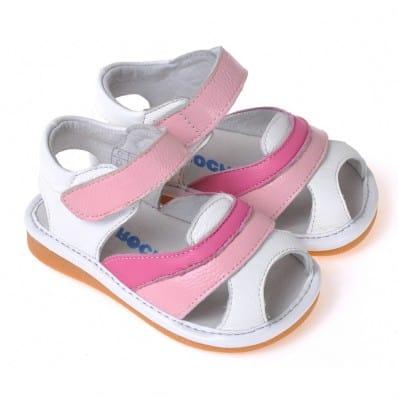 CAROCH - Chaussures à sifflet | Sandales rose et fushia