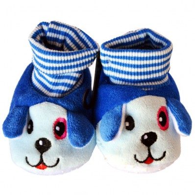Soft cotton baby girls shoes | Blue dog