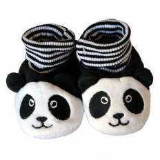 Babyschuhe baumwolle mädchen | Panda