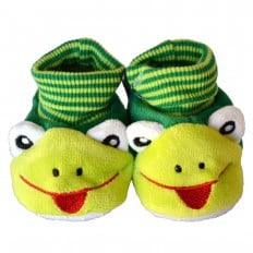 Soft cotton baby girls shoes | Frog