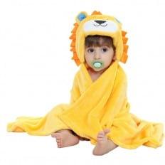 Babydecke polar erstlingsdecke kuscheldecke strickdecke jungen und mädchen | Löwe