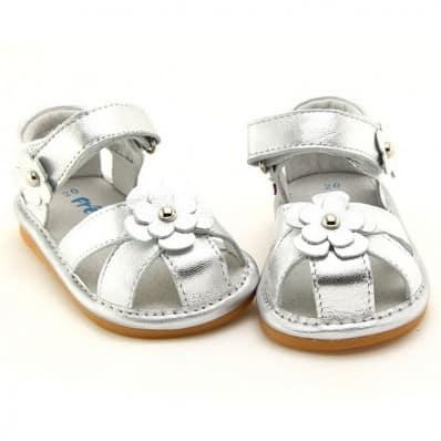 FREYCOO - Chaussures à sifflet | Sandales argentées