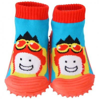 Baby boys Socks shoes with grippy rubber | Airman