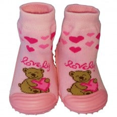 Baby girls Socks shoes with grippy rubber | Lovely