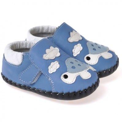 CAROCH - Zapatos de bebe primeros pasos de cuero niños   Tortuga