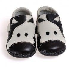 CAROCH - Krabbelschuhe Babyschuhe Leder - Jungen | Kuh