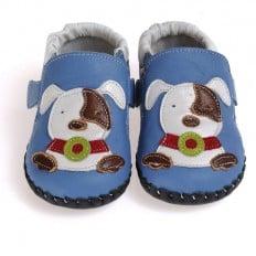 CAROCH - Chaussures 1er pas cuir souple | Petit chien