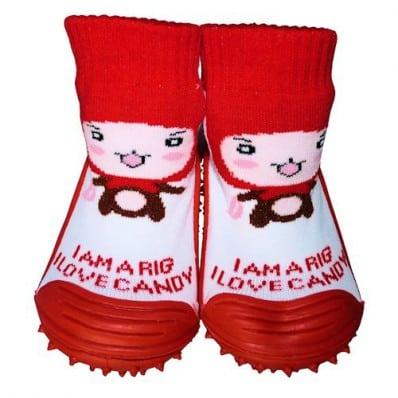 Calcetines con suela antideslizante para niñas | Caperuza roja