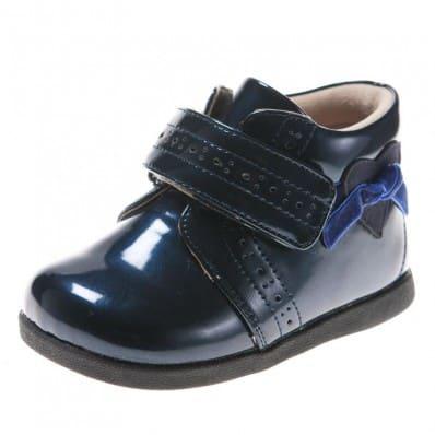 Little Blue Lamb - Zapatos de suela de goma blanda niñas   Montante azules