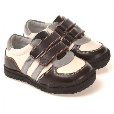 CAROCH - Zapatos de suela de goma blanda niños | Zapatillas de deporte marrón y beige