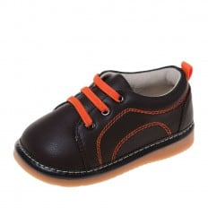 Little Blue Lamb - Chaussures à sifflet | Baskets marron et orange