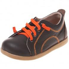 Little Blue Lamb - Zapatos de suela de goma blanda niños | Zapatillas de deporte anaranjadas marrones