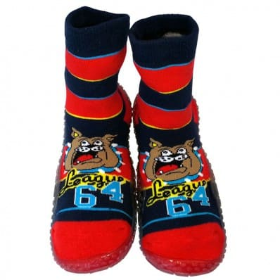 Baby boys Socks shoes with grippy rubber | Bulldog