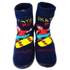 Calcetines con suela antideslizante para niños   Skate boy azul
