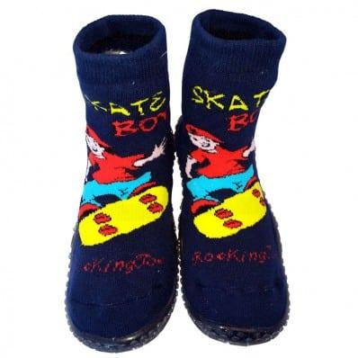 Scarpine calziniantiscivolo bambini - ragazzo   Skate boy blu
