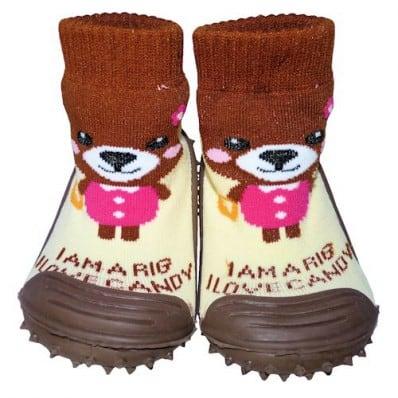 Scarpine calzini antiscivolo bambini - ragazza | Orso bruno