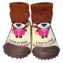 Calcetines con suela antideslizante para niñas | Oso pardo