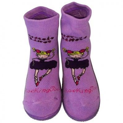 Chaussons-chaussettes enfant antidérapants semelle souple | Danseuses