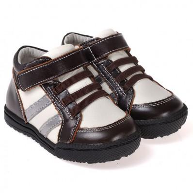 Chaussures semelle souple montantes bicolores
