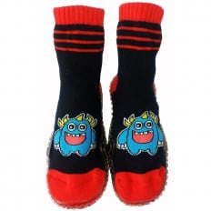 Baby boys Socks shoes with grippy rubber | Monster