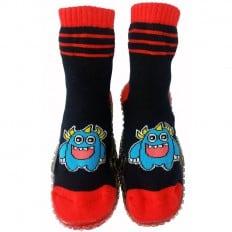 Hausschuhe - Socken Baby Kind geschmeidige Schuhsohle Junge | Monstrum