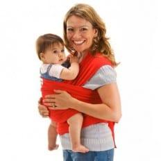 BEBEMOOI - Echarpe de portage - porte bébé coton naturel   Rouge