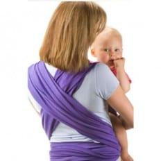 BEBEMOOI - Baby Wrap Sling Carrier Organic cotton and Elastane | Purple