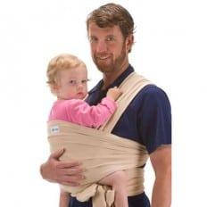 BEBEMOOI - Echarpe de portage - porte bébé coton naturel    Beige