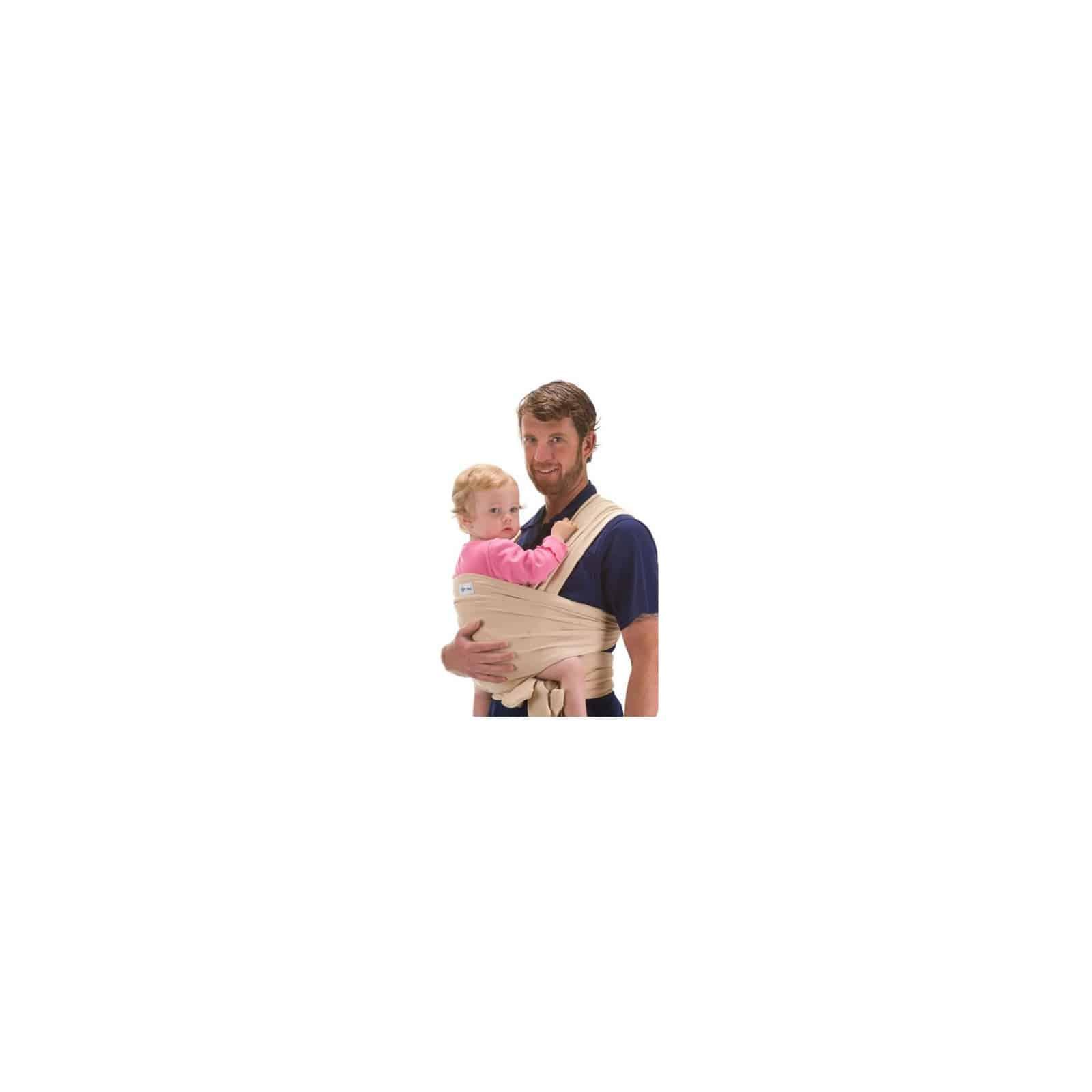BEBEMOOI - Echarpe de portage - porte bébé coton naturel   Beige 9dd46813cee