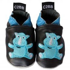 Zapitillas de bebe de cuero suave niños antideslizante | Bebé rhinoceros