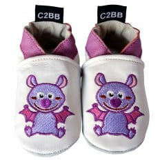 Soft leather baby shoes girls | Bat