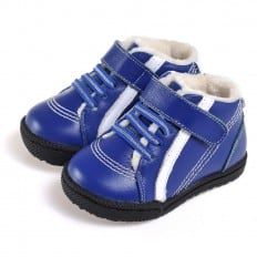 CAROCH - Soft sole boys Toddler kids baby shoes | Blue sneakers with white strip