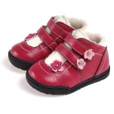 CAROCH - Zapatos de suela de goma blanda niñas | Montantes forradas con 2 scratchs